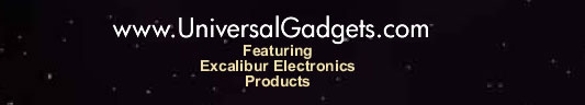 www.UniversalGadgets.com - Featuring Excalibur Electronics Products