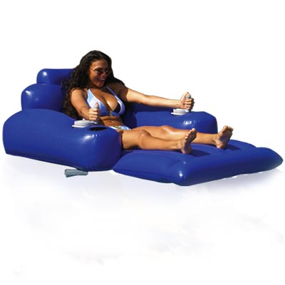 Motorized Pool Lounger - Don't Just Float—Drive! photo - Click to see a larger version.